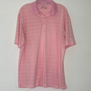 Nike golf for dry pink polo shirt L